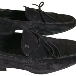 TOD'S Men's Navy Suede Loafers Us Sz 10.5